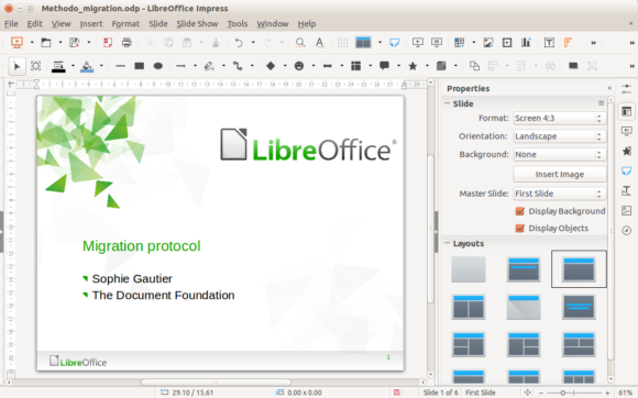 LibreOffice -- Impress - Screenshot - FreePowerPointTemplates