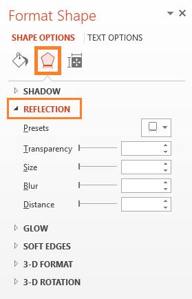 Mirror Effect -- Text - HOME - WordArt - Effects - Reflection - 6 - FreePowerPointTemplates