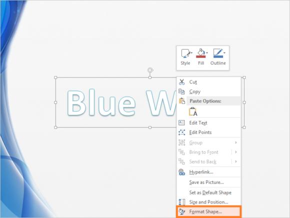 Mirror Effect -- Text - HOME - WordArt - Format Shape... - 5 - FreePowerPointTemplates