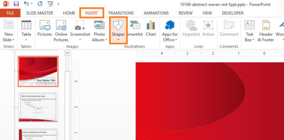 Navigation -- INSERT - Shapes - FreePowerPointTemplates