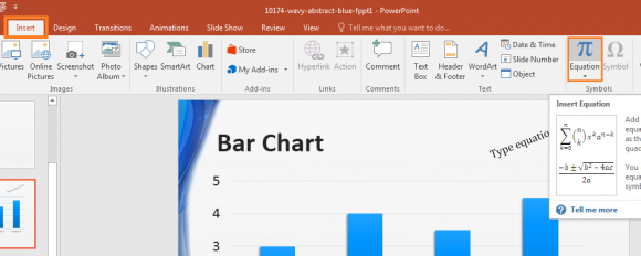 PowerPoint 2016 - Insert - Equation - FreepowerpointTemplates - Free ...