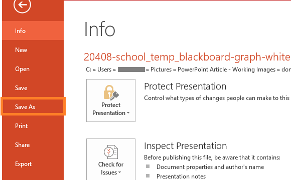 PowerPoint Files -- File - Save As - FreePowerPointTemplates