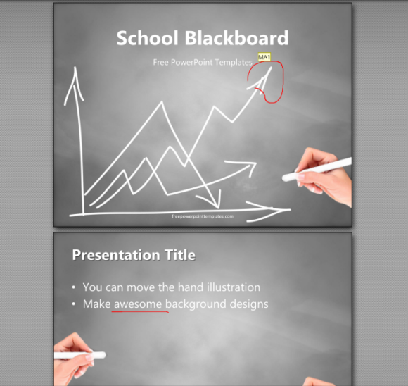 PowerPoint Files -- File - Save as - PDF - Options... - Comments and Ink Markup - PDF - FreePowerPointTemplates