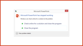 PowerPoint Has Stopped Working -- Featured - FreePowerPointTemplates