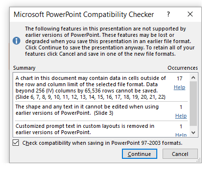 PowerPoint Show -- .PPS - Compatibility Checker - FreePowerPointTemplates