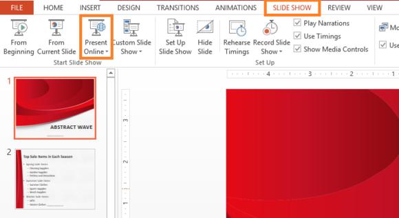Present Online -- Slide Show - PowerPoint 2013 - Present Online - FreePowerPointTemplates