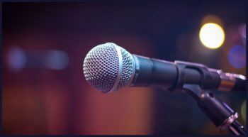 Presentation Nerves -- Microphone - Featured - FreePowerPointTemplates