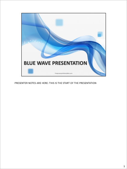 Presenter Notes -- VIEW - Notes Page - 2 - PowerPoint 2013 - FreePowerPointTemplates