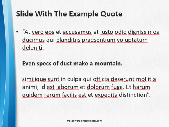 Highlighting quotes and text in powerpoint free powerpoint templates quotes writing a quote freepowerpointtemplates toneelgroepblik Images
