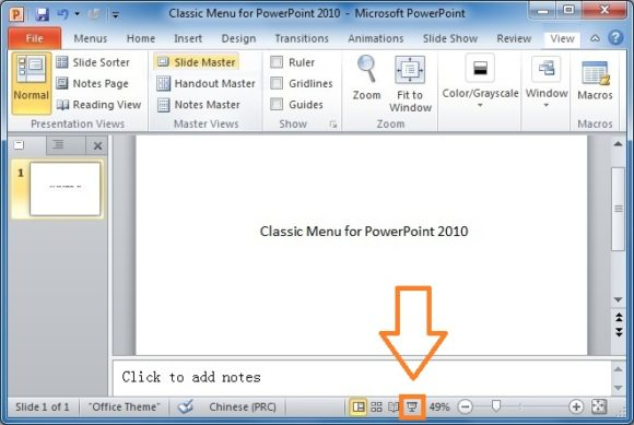 Slide Show -- Button - PowerPoint 2010 - FreePowerPointTemplates