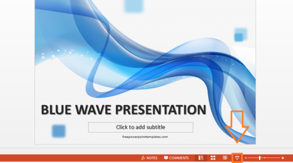 Slide Show -- Button - PowerPoint 2013 - FreePowerPointTemplates