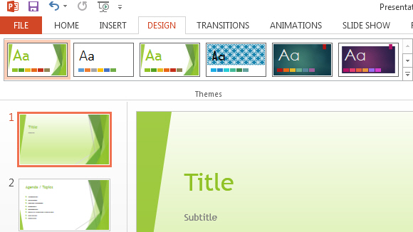 Slide Themes in PowerPoint 2013 - Free PowerPoint Templates