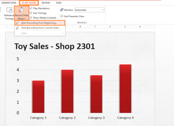how to change slideshow timing in powerpoint