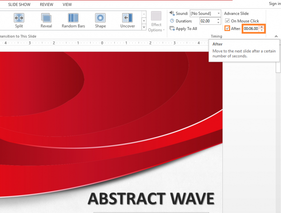 how to set timings on a powerpoint presentation