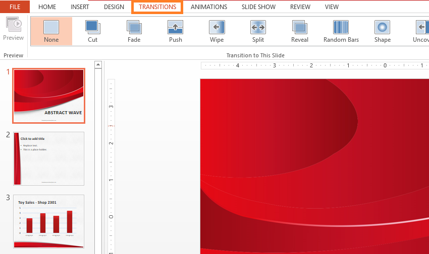how to change slide transitions in powerpoint