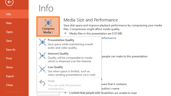 Smaller -- File - Media Size and Performance - 2 - FreePowerPointTemplates