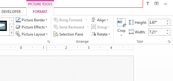 Snipping Tool -- PowerPoint 2016 - Ribbon Toolbar - FORMAT - FreePowerPointTemplates