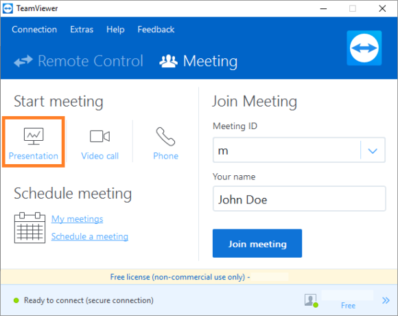 TeamViewer -- Meeting - Presentation - Teamviewer 12 - FreePowerPointTemplates