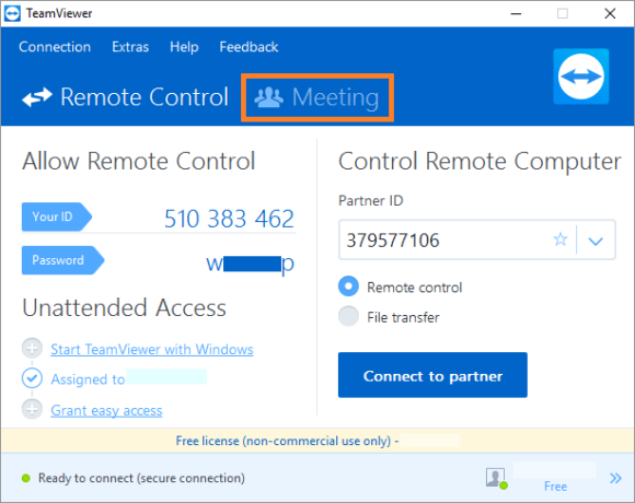 TeamViewer -- Meeting - Teamviewer 12 - FreePowerPointTemplates