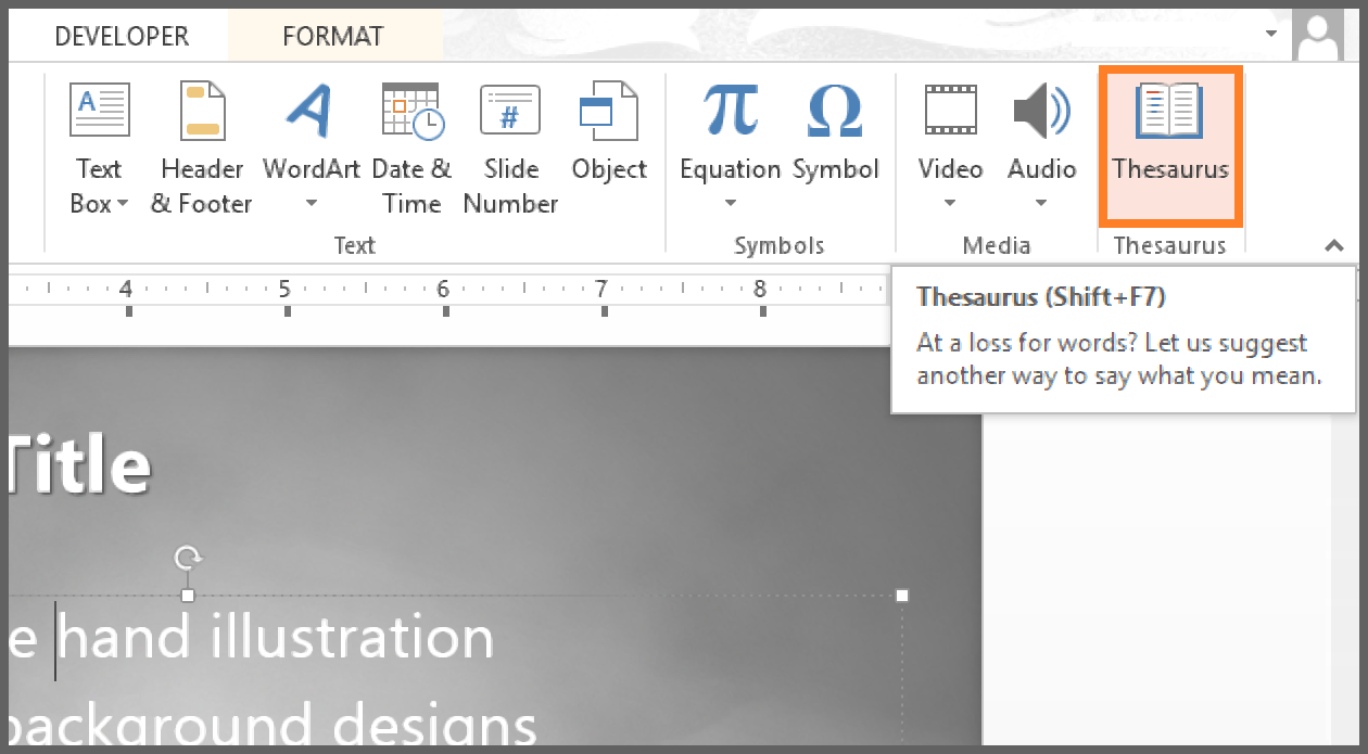 Using thesaurus in powerpoint free powerpoint templates biocorpaavc