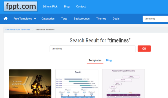 Timeline -- FPPT Timelines - FreePowerPointTemplates