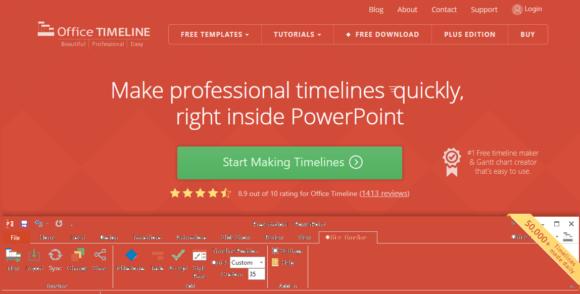Timeline -- OfficeTimeline.com - FreePowerPointTemplates