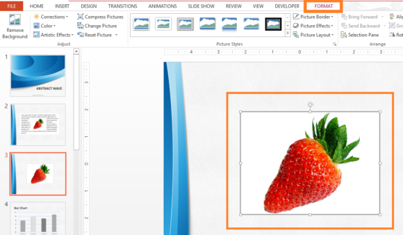 Transparent -- Picture Tools - Format - FreePowerPointTemplates\