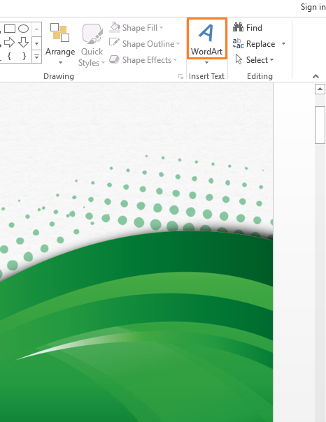 How to use the missing word art feature in powerpoint 2013 for Button template for word