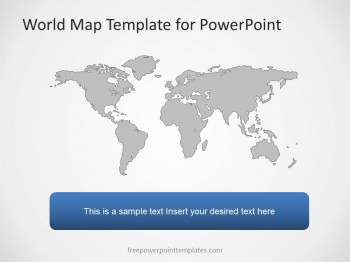 Powerpoint Global Map.Free World Map Powerpoint Template