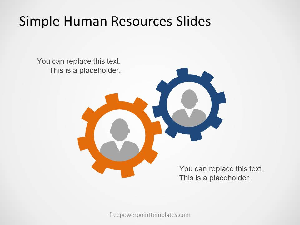 simple human resources slides for powerpoint