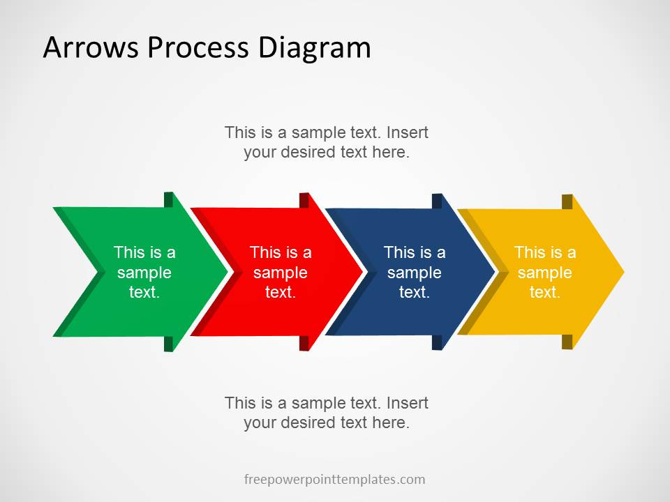 free arrows process diagram template