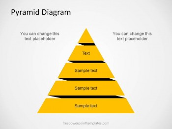 pyramid diagram model pyramid diagram