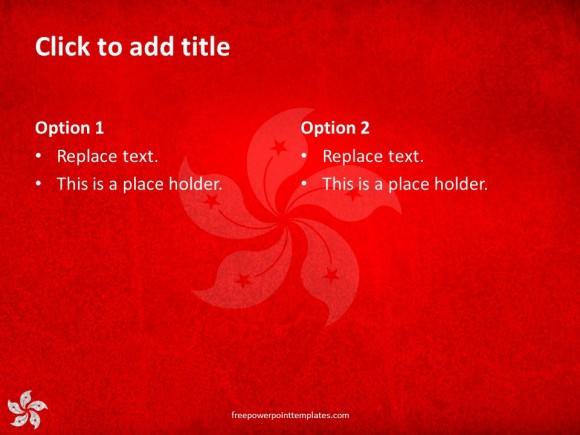 10156 Hongkong Flag Fppt 5 Free Powerpoint Templates