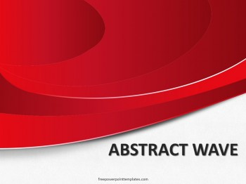 free abstract red wave powerpoint template