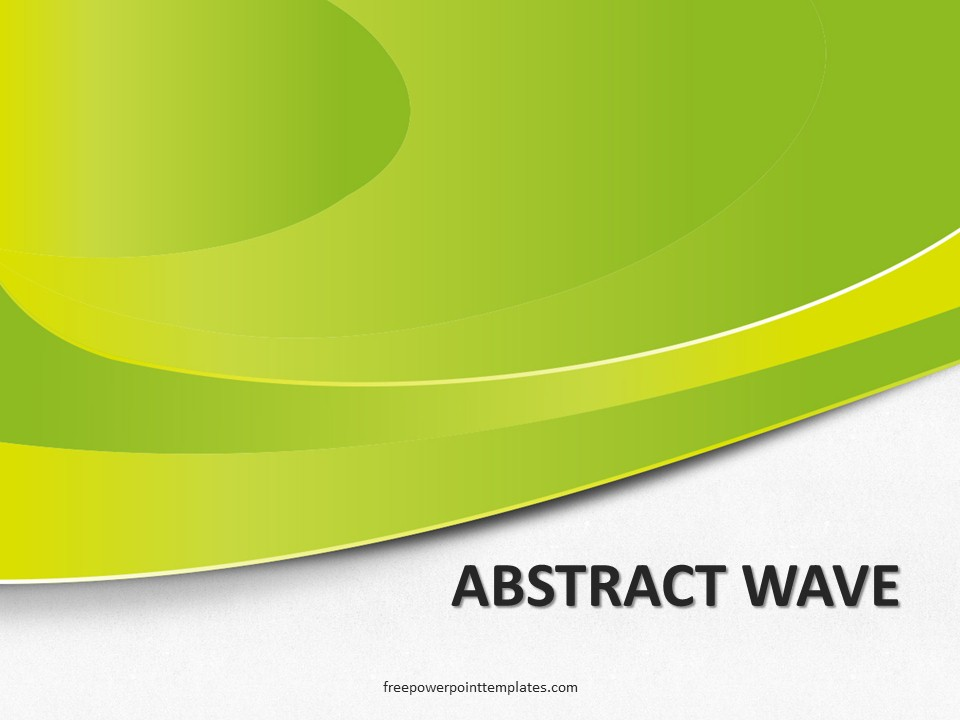 free abstract green wave powerpoint template
