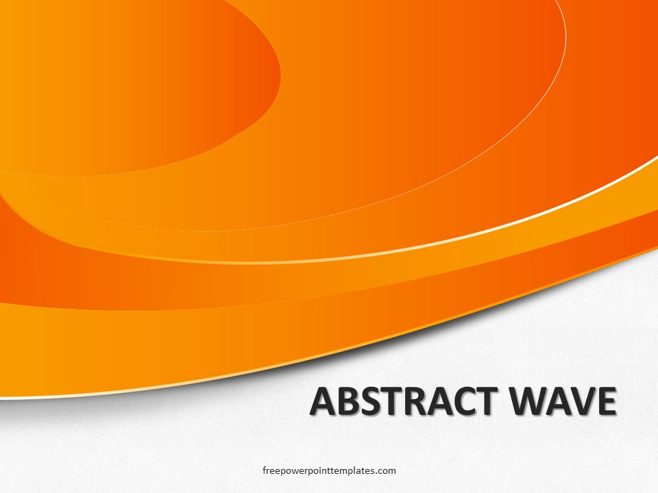 free abstract wave orange powerpoint template