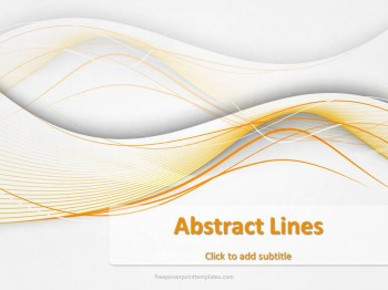 Abstract Light Lines Powerpoint Template
