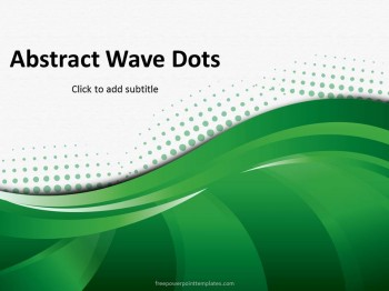 Free Abstract Green Wave Dots Powerpoint Template,Room Wallpaper Design Hd