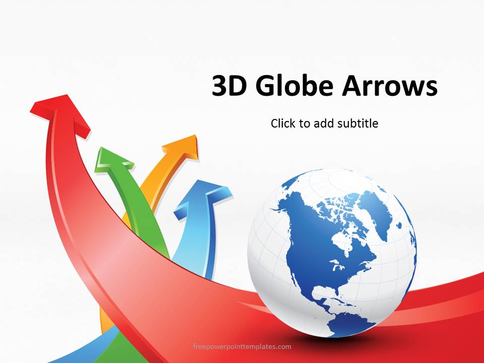 free 3d globe arrows powerpoint template