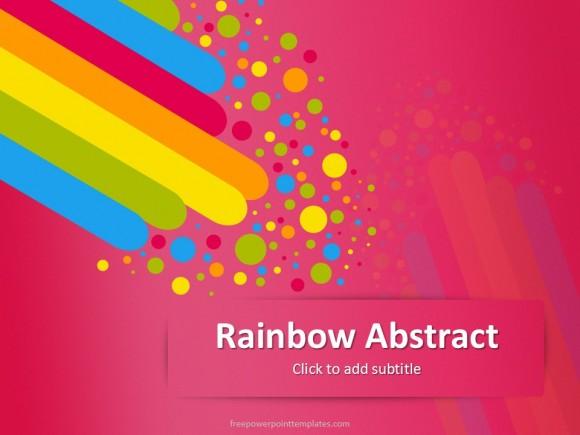 10337 Rainbow Abstract Magenta Fppt 1 Free Powerpoint Templates