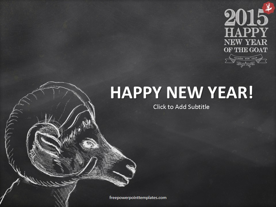 Happy Goat New Year 2015 Powerpoint Template