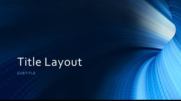 free blue tunnel template for powerpoint online free powerpoint