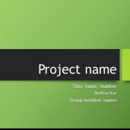 Free Group Project Template for PowerPoint Online 1