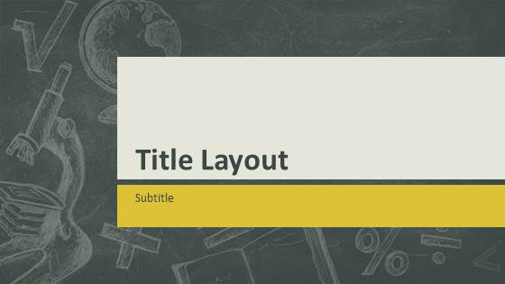 Free Education Chalkboard Template For Powerpoint Free