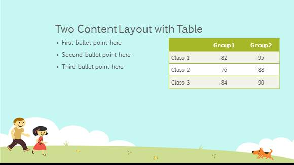 free elementary school playground template
