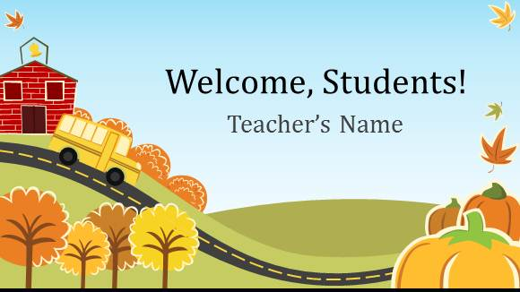 Free Elementary School Teacher Template For Powerpoint Online Free