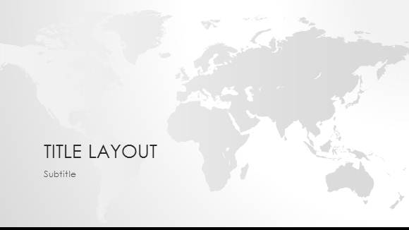 free world map black white template for powerpoint online free