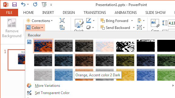 Adjust Color and Apply Artistic Effects in PowerPoint 2013 4