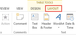 Adjusting Width and Height of Cells in PowerPoint 2013 1