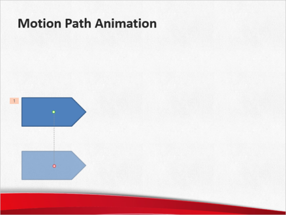 Animate -- Animation tab - Add Animation - Motion Paths - Lines - FreePowerPointTemplates